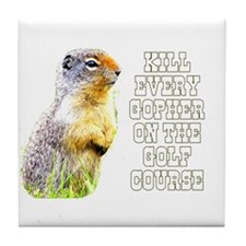 Kill Every Gopher on the Golf Tile Coaster