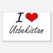I Love Uzbekistan Artistic Design Decal