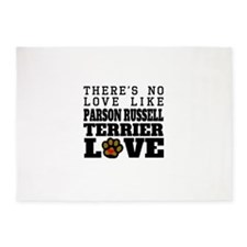Parson Russell Terrier Love 5'x7'Area Rug