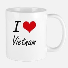 I Love Vietnam Artistic Design Mugs