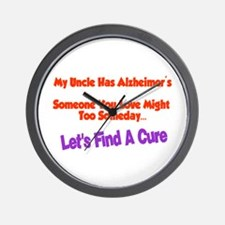 Uncle has Alzheimer's Wall Clock