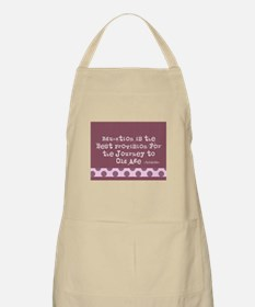 TEACHER BLANKET BAG MAUVE Apron
