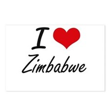 I Love Zimbabwe Artistic Postcards (Package of 8)