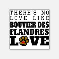 Bouvier des Flandres Love Sticker