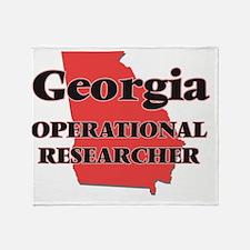 Georgia Operational Researcher Throw Blanket