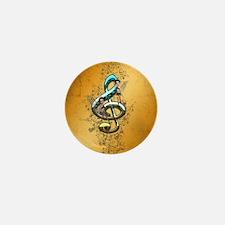Beautiful, decorative clef Mini Button