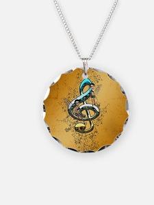 Beautiful, decorative clef Necklace