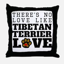 Tibetan Terrier Love Throw Pillow