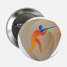 "Trap Shooting Crest Retro 2.25"" Button (10 pack)"