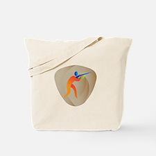 Trap Shooting Crest Retro Tote Bag