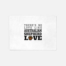 Australian Shepherd Love 5'x7'Area Rug