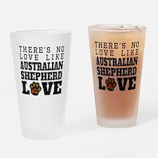 Australian Shepherd Love Drinking Glass