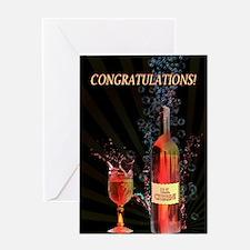 U.S. Citizen congratulations with splashing wine G