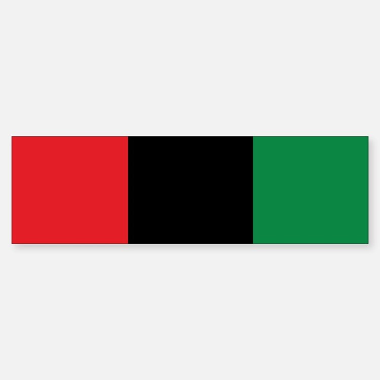 The Red, Black and Green Flag Bumper Bumper Bumper Sticker