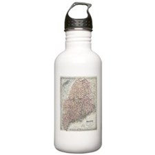 Vintage Map of Maine ( Water Bottle