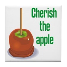 Candy Apple Tile Coaster