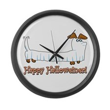 Happy Halloweiner Large Wall Clock
