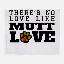 Mutt Love Throw Blanket