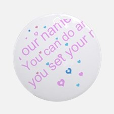 CAN DO Inspirational Saying Round Ornament