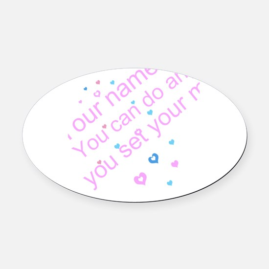 CAN DO Inspirational Saying Oval Car Magnet