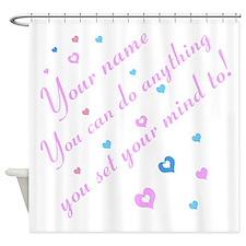 CAN DO Inspirational Saying Shower Curtain