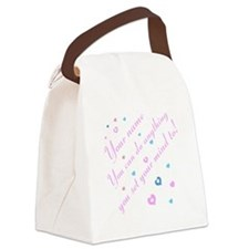 CAN DO Inspirational Saying Canvas Lunch Bag