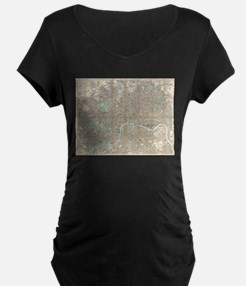 Vintage Map of London (1890) Maternity T-Shirt