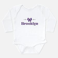 Cute Purple baby personalized Long Sleeve Infant Bodysuit