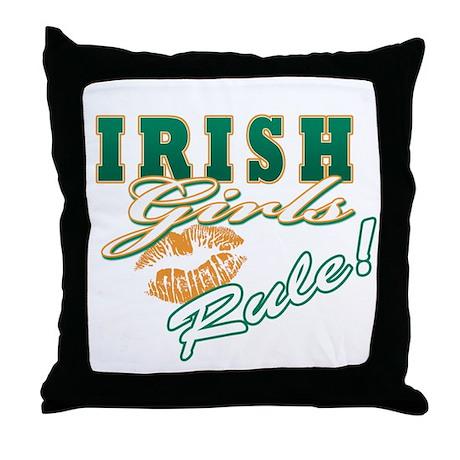 Irish Girls Rule Throw Pillow