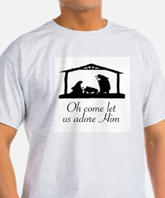 CHRISTMAS - OH COME LET US ADORE HIM T-Shirt