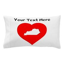 Kentucky Heart Cutout Pillow Case