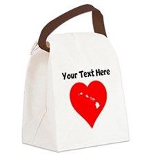 Hawaii Heart Cutout Canvas Lunch Bag