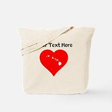 Hawaii Heart Cutout Tote Bag