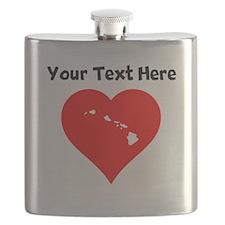 Hawaii Heart Cutout Flask