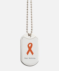Fear Nothing. Orange Ribbon Dog Tags