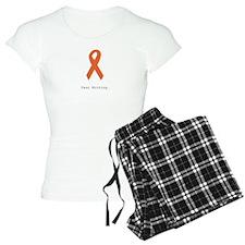 Fear Nothing. Orange Ribbon Pajamas