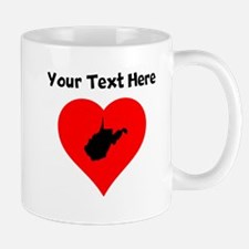 West Virginia Heart Mugs