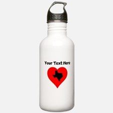 Texas Heart Water Bottle