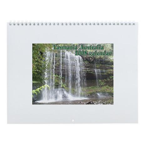 Elph Russell Falls, Tasmania Wall Calendar