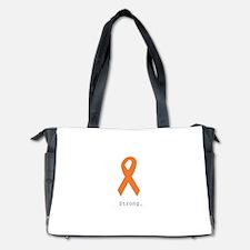 Strong. Orange Ribbon Diaper Bag