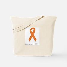 Conquer All. Orange Rib Tote Bag