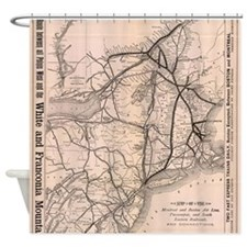 Vintage Boston and Montreal Railroa Shower Curtain