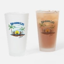 J Rowe Sandbar Life Drinking Glass