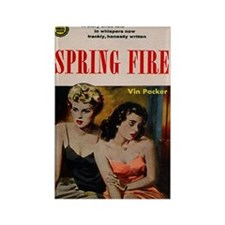 Spring Fire Rectangle Magnet