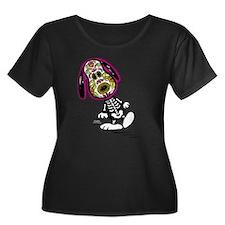 Day of t Women's Plus Size Scoop Neck Dark T-Shirt