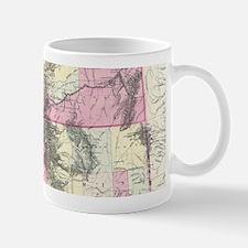 Vintage Map of Montana, Wyoming and Idaho (18 Mugs