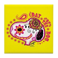 Day of the Dog Snoopy Face Tile Coaster