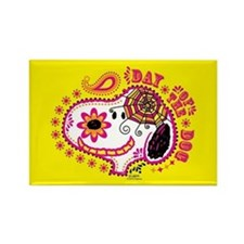 Day of the Dog Snoopy Face Rectangle Magnet