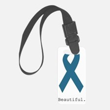 Beautiful. Teal Ribbon Luggage Tag