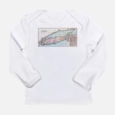 Vintage Map of Long Island (18 Long Sleeve T-Shirt
